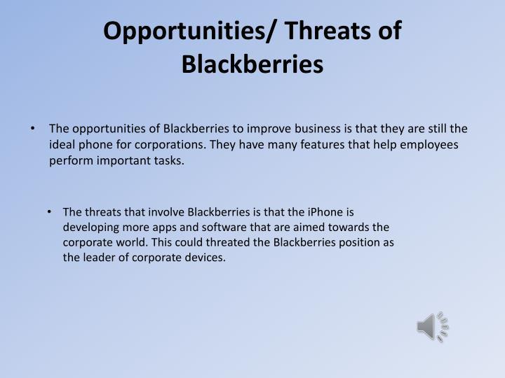 Opportunities/ Threats of Blackberries