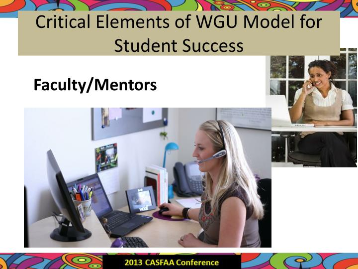 Critical Elements of WGU Model for Student Success