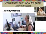 critical elements of wgu model for student success