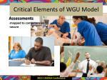 critical elements of wgu model1