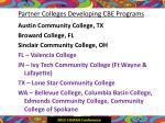 partner colleges developing cbe programs
