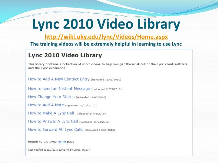 Lync 2010Video