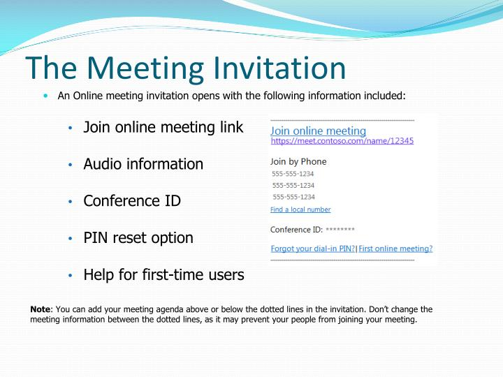 The Meeting Invitation