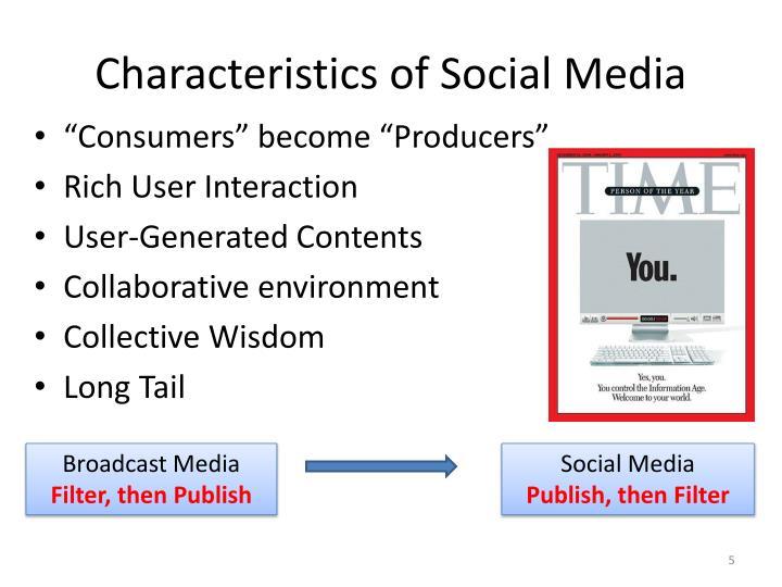 Characteristics of Social Media