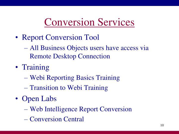 Conversion Services