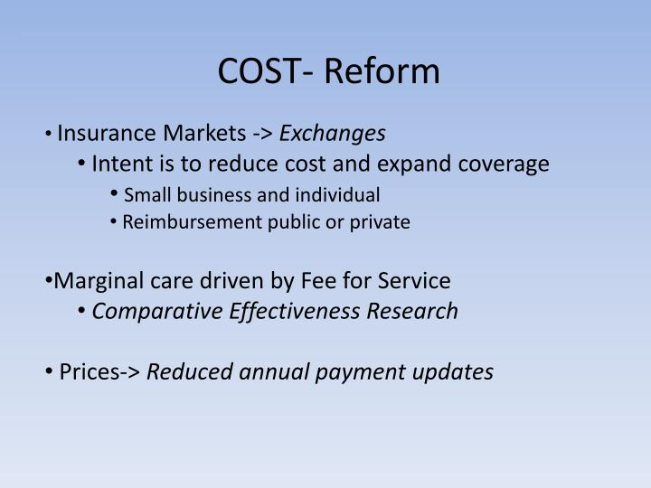 COST- Reform