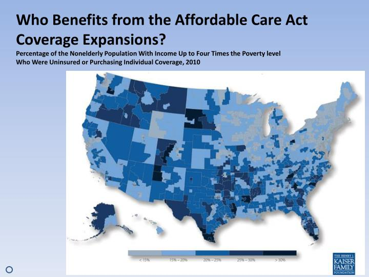 Who Benefits from the Affordable Care Act Coverage Expansions