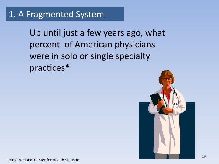 1. A Fragmented System