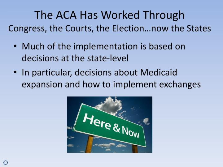The ACA Has Worked Through
