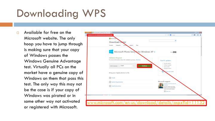Downloading WPS