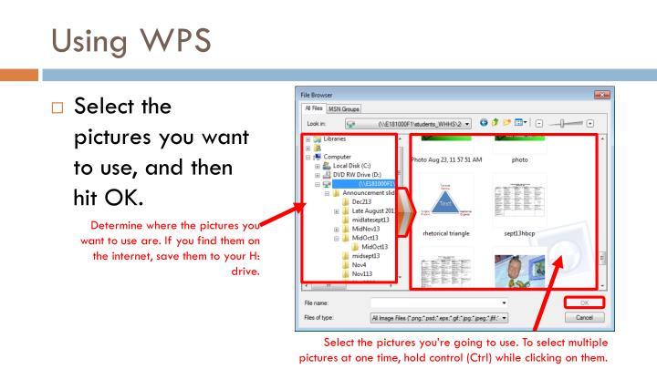 Using WPS