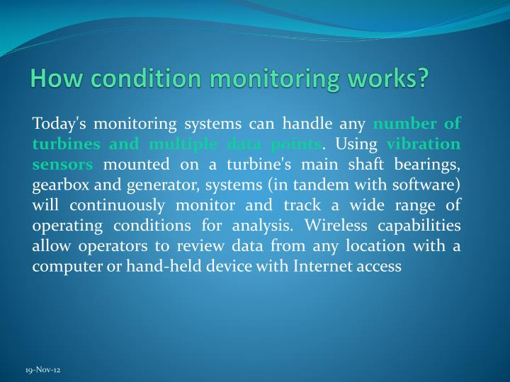 How condition monitoring works?
