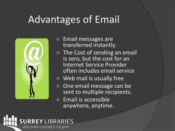Advantages of email