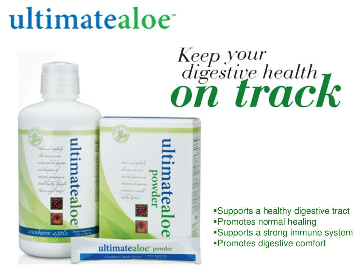 Supports a healthy digestive tract