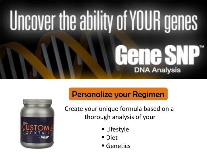 Personalize your Regimen