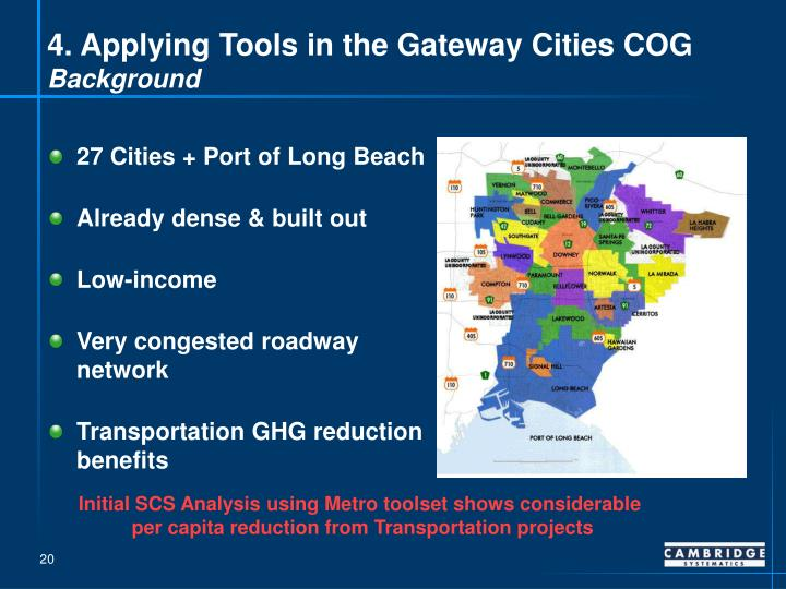 4. Applying Tools in the Gateway Cities COG