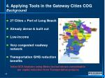 4 applying tools in the gateway cities cog background
