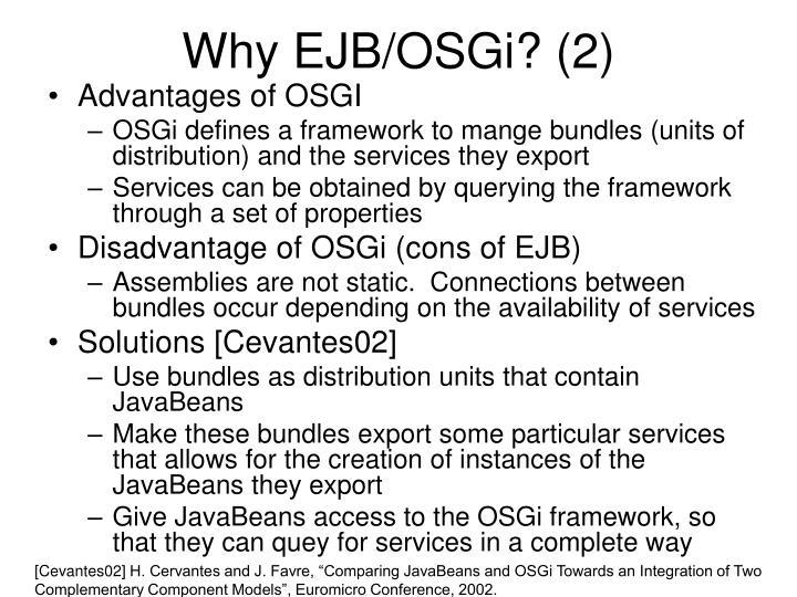 Why EJB/OSGi? (2)