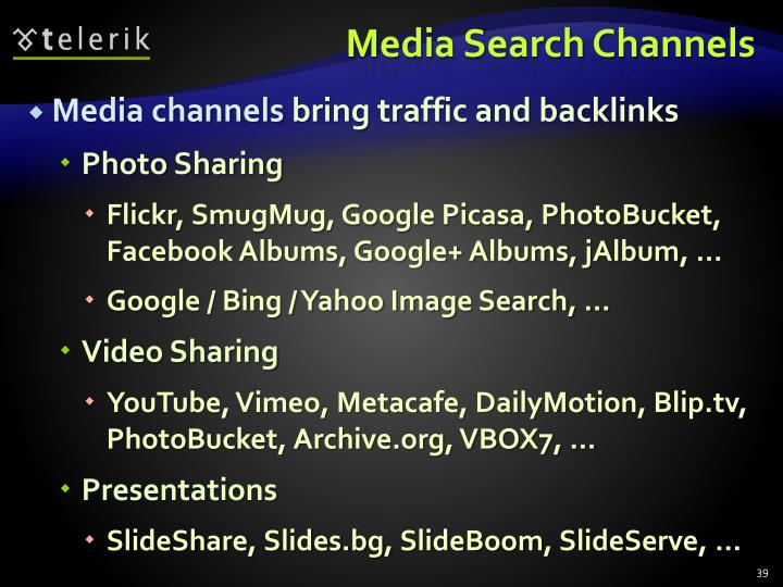 Media Search Channels