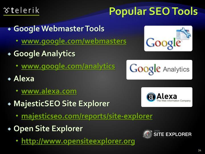 Popular SEO Tools