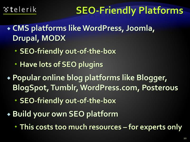 SEO-Friendly Platforms