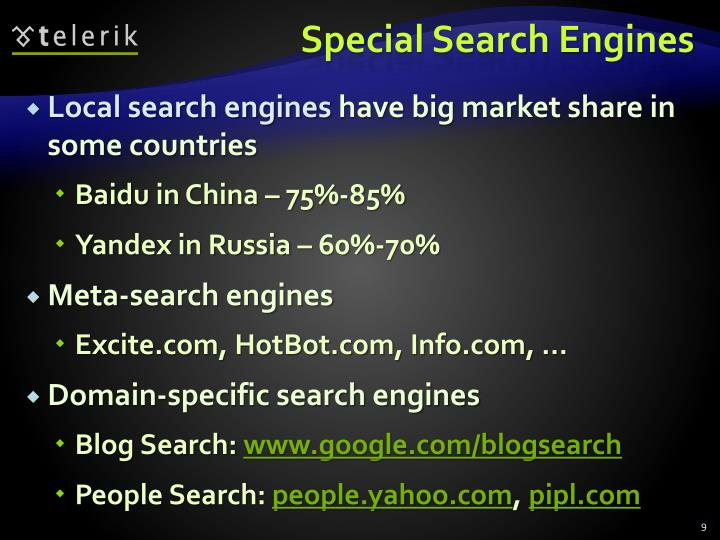 Special Search Engines
