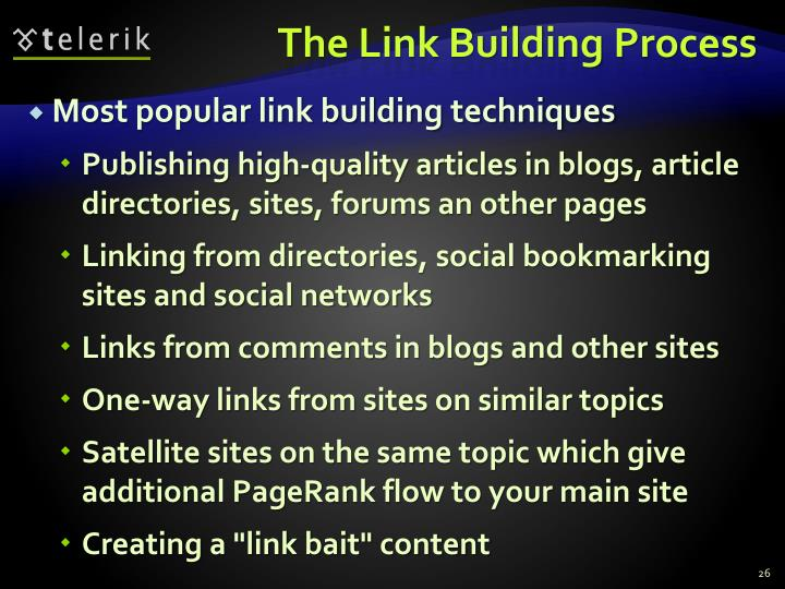 The Link Building Process