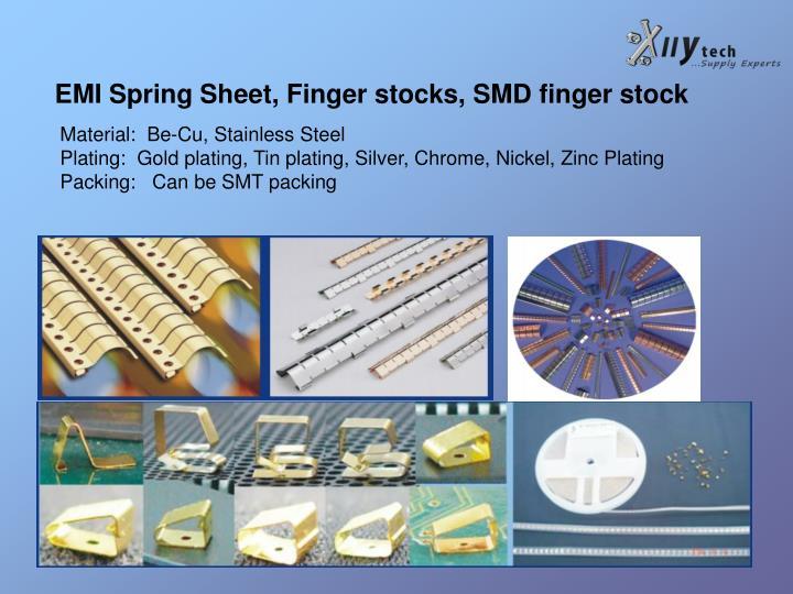 EMI Spring Sheet, Finger stocks, SMD finger stock