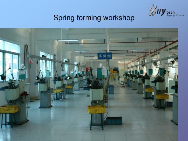 Spring forming workshop