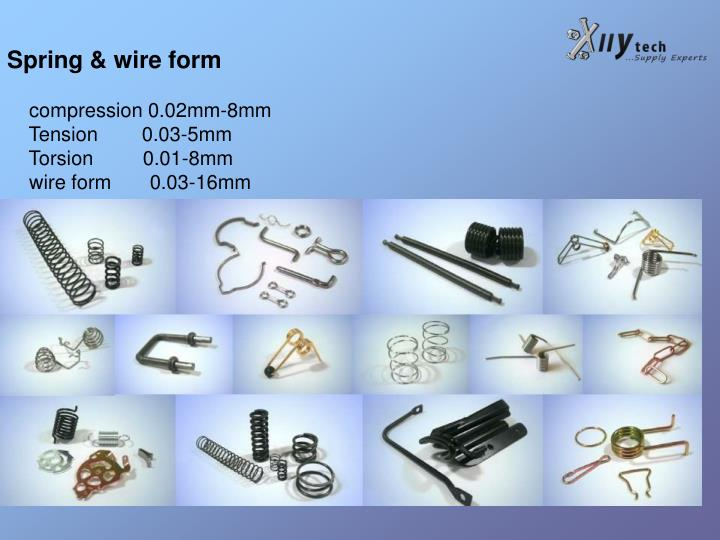 Spring & wire form