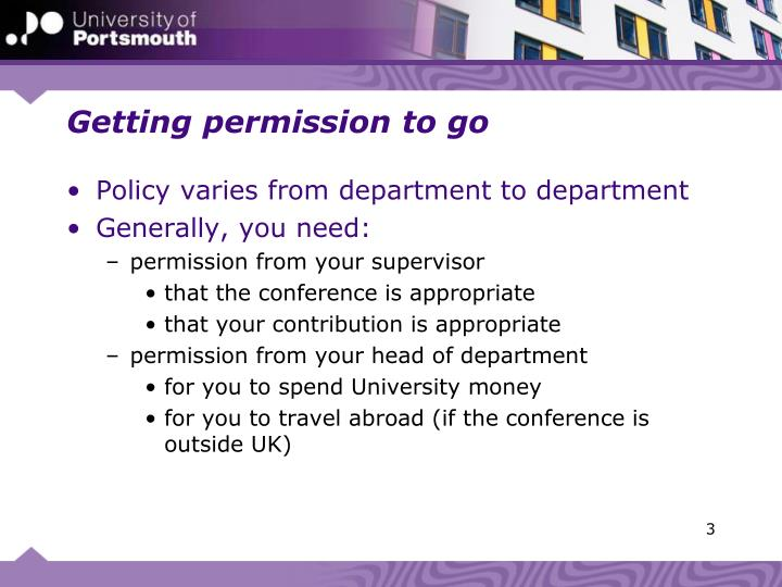 Getting permission to go