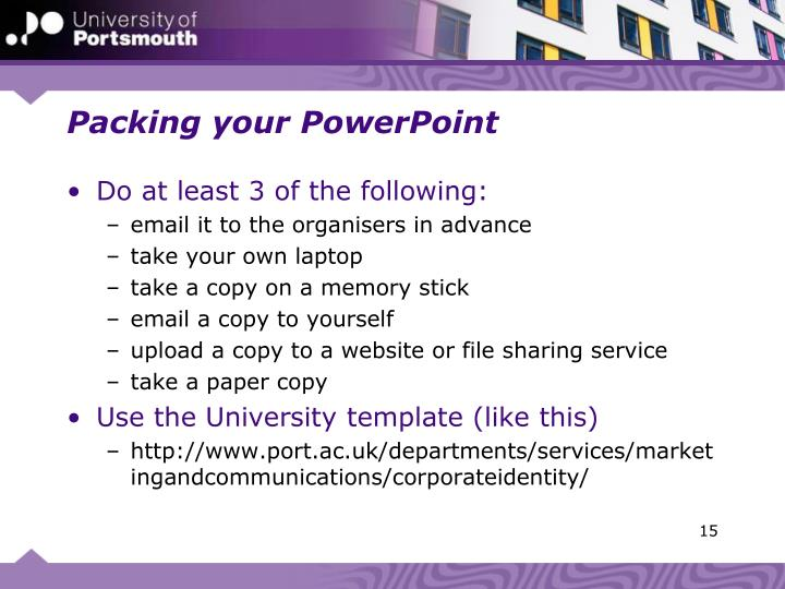 Packing your PowerPoint