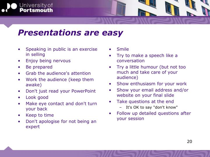 Presentations are easy