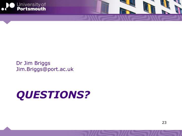 Dr Jim Briggs