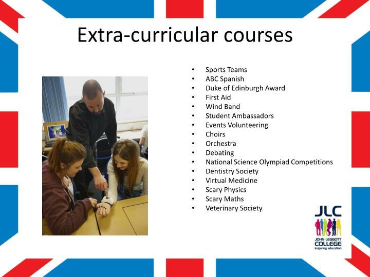 Extra-curricular courses
