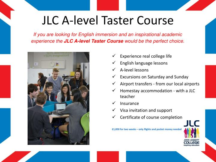 JLC A-level Taster Course