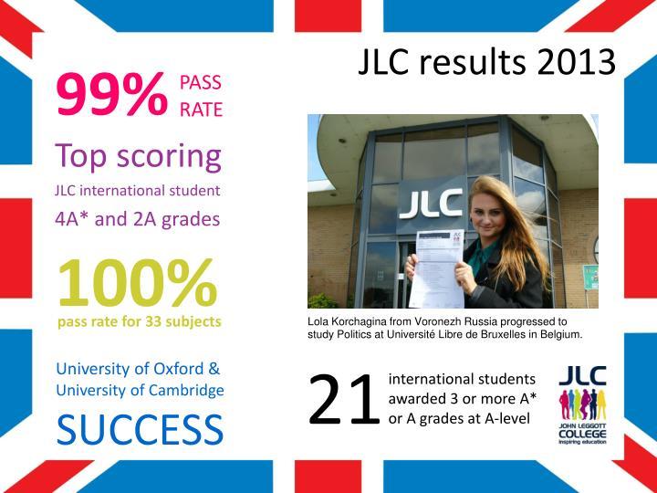 JLC results 2013