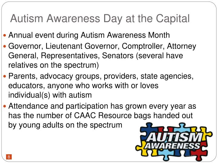 Autism Awareness Day at the Capital
