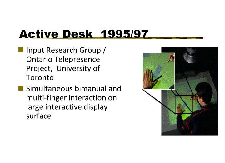 Active Desk  1995/97