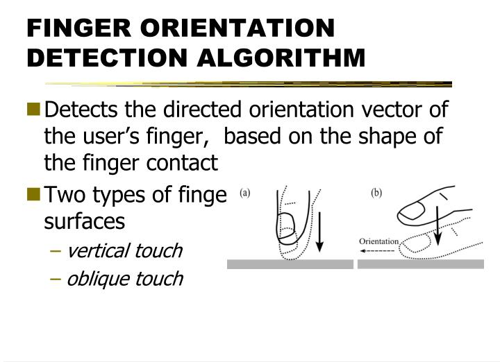 FINGER ORIENTATION DETECTION ALGORITHM