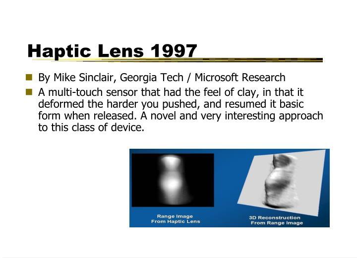 Haptic Lens 1997