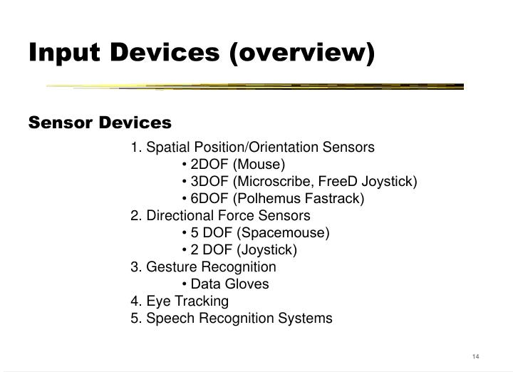 Input Devices (overview)
