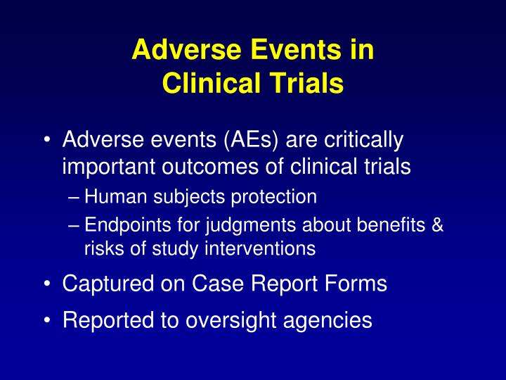 Adverse Events in