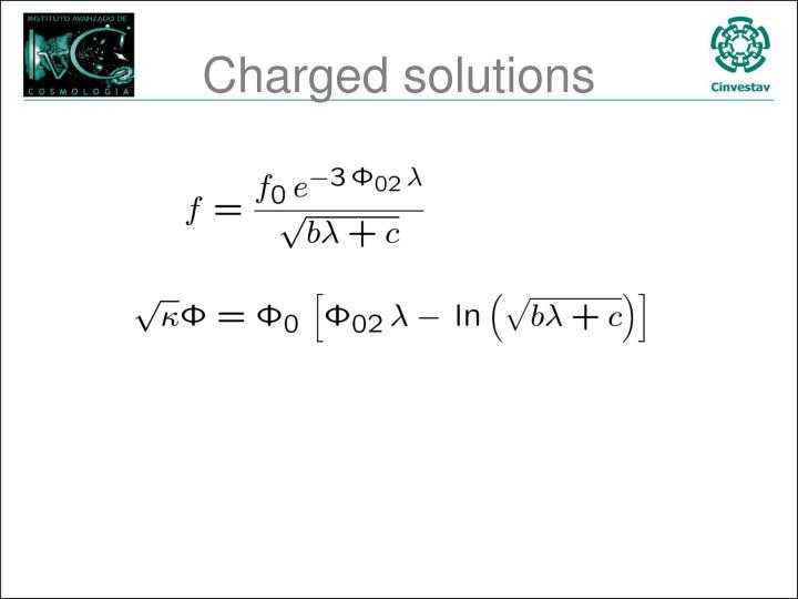 Charged solutions