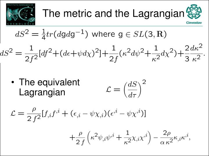 The metric and the Lagrangian
