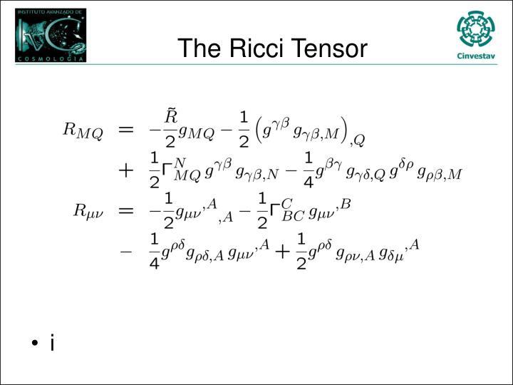 The Ricci Tensor