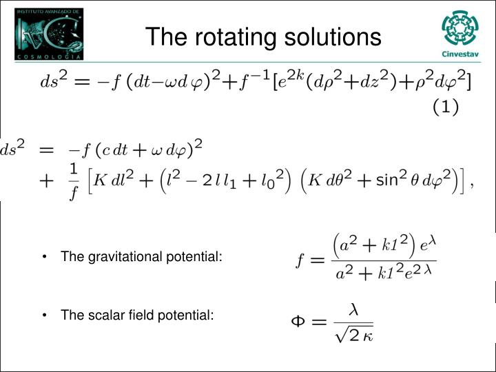The rotating solutions
