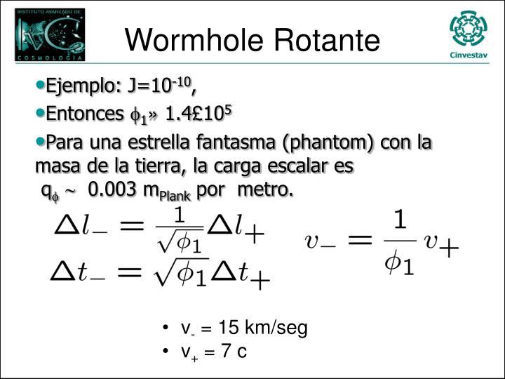 Wormhole Rotante