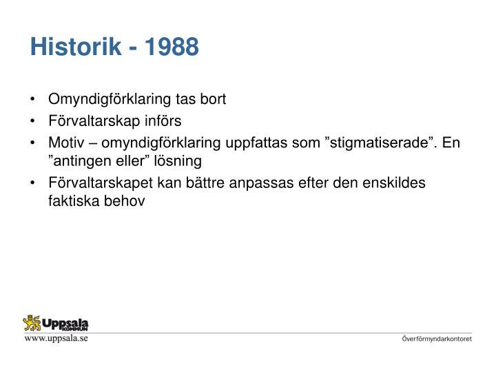 Historik - 1988