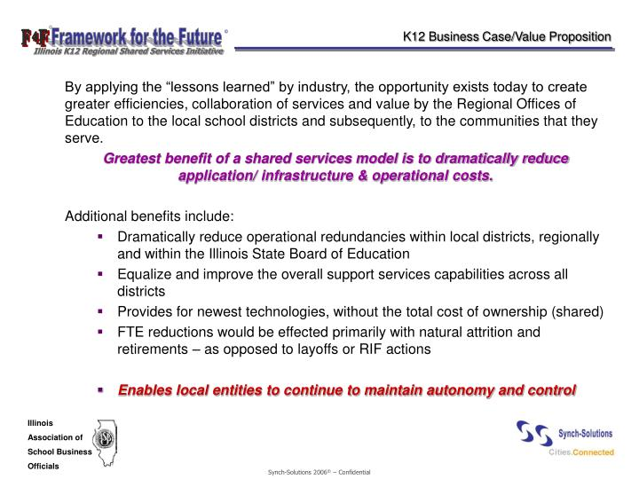 K12 Business Case/Value Proposition